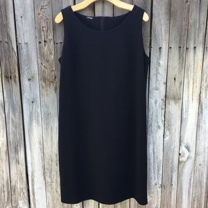 Kiton Napoli Sleeveless Wool Sheath Dress Black 12